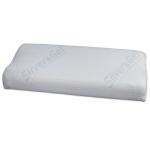 Wendre 276035143 Nackenstützkissen SoftGel 40 x 60 x 9/7 cm mit hochwertigen Doppeltuch für Kissebezug 40 x 80 cm geeignet, natur