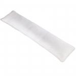 Mikro 150035631 Microfaser Seitenschläferkissen, 145 x 40 cm mit einem weichen Bezug in weiß bezogen (nicht abnehmbar)